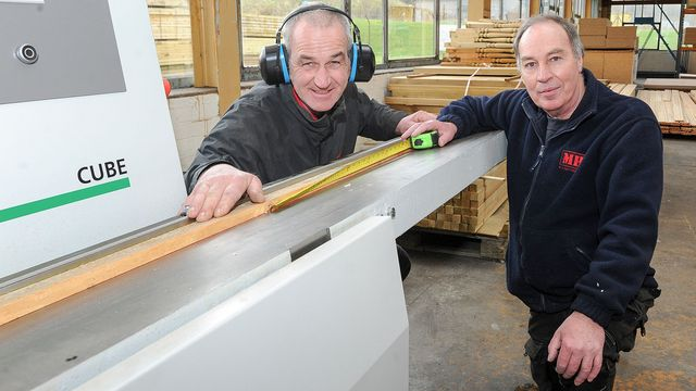 So simple and precise: Andrew Hume (left) and John Mitchell of Tweedside Timber are delighted with their Cube